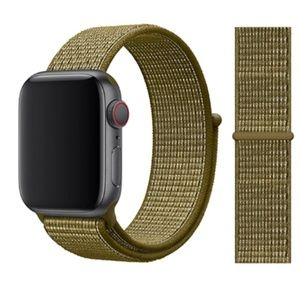 NEW Olive Flak Strap Loop Band For Apple Watch